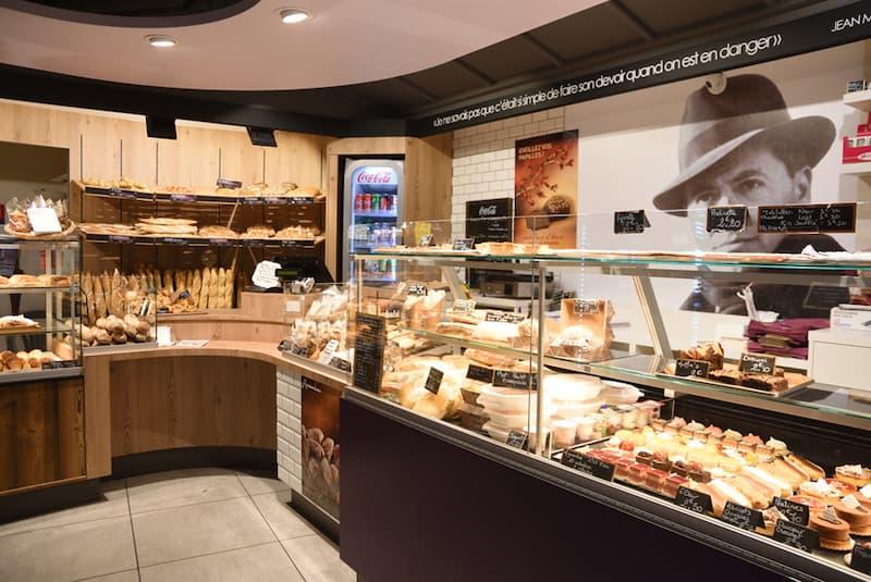 Photo de l'intérieur de la boulangerie Jean Moulin à Lyon Caluire et Cuire