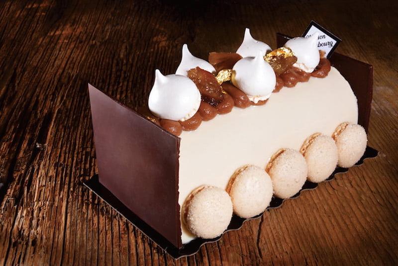 Bûche de Noël Mont blanc - Boulangerie Jean Moulin - Caluire et Cuire