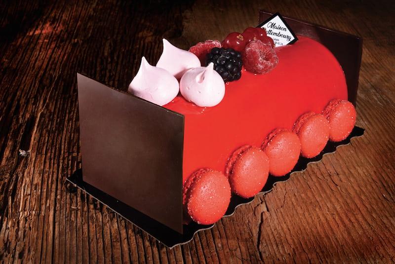 Bûche de noël Fruits des bois - Boulangerie Jean Moulin - Caluire et Cuire