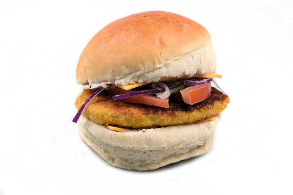 Burger nugget boulangerie Jean Moulin à Caluire