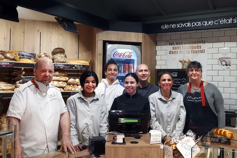 photo portraits des artisans boulangers patissiers de la boulangerie Jean Moulin à Caluire
