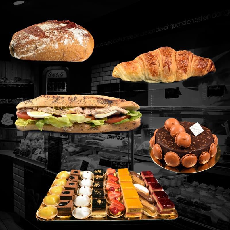 Pain, viennoiserie, sandwich, Pâtisserie, traiteur, produits boulangerie Jean Moulin Caluire